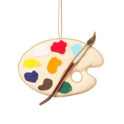 Artist Palette Christmas Decoration