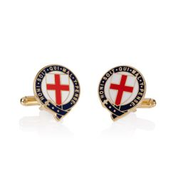 cufflinks depicting the Garter and the cross of St. George