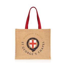 juco bag featuring the cross of St George and circles with the Garter