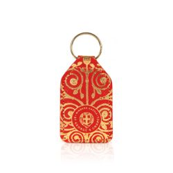 keyring inspired by the design found on the Gilebertus doors at St. George's Chapel, Windsor Castle