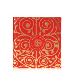 notebook with a pattern inspired by the Gilebertus doors at St. George's Chapel, Windsor Castle