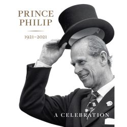 Book cover featuring a black and white image of Prince Philip, The Duke of Edinburgh