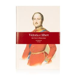 Notebook featuring a watercolour of Prince Albert on the front cover