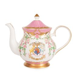 The design of this limited edition teapot is wonderfully inspired by the pink roses in bloom at the time of The Queen's official birthday, on the East Terrace Garden, Windsor Castle.