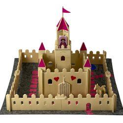 A rectangular tin displaying a make a magical princess castle kit