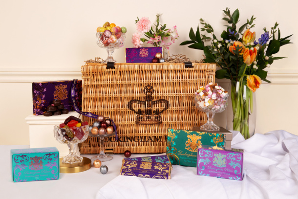 Hamper basket and products